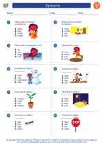 English Language Arts - Third Grade - Worksheet: Synonyms