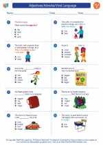 English Language Arts - Third Grade - Worksheet: Adjectives/Adverbs/Vivid Language