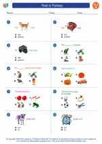 English Language Arts - First Grade - Worksheet: Real or Fantasy