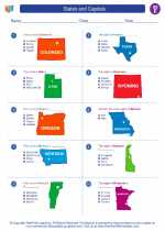 Social Studies - Fifth Grade - Worksheet: States and Capitals