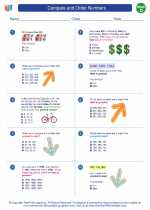 Mathematics - Fourth Grade - Worksheet: Compare and Order Numbers