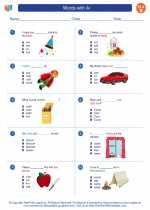 English Language Arts - Second Grade - Worksheet: Words with /k/
