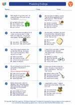 English Language Arts - Second Grade - Worksheet: Predicting Endings