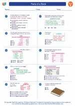 English Language Arts - Fifth Grade - Worksheet: Parts of a Book