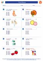 English Language Arts - Second Grade - Worksheet: Plural Nouns