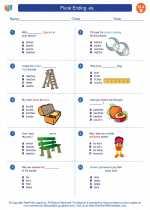 English Language Arts - Second Grade - Worksheet: Plural Ending -es