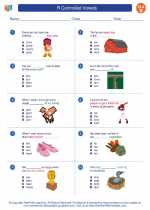 English Language Arts - Second Grade - Worksheet: R Controlled Vowels