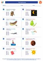 English Language Arts - Second Grade - Worksheet: Homophones
