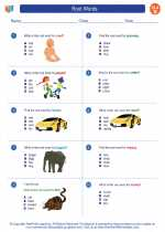English Language Arts - Second Grade - Worksheet: Root Words