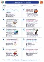 English Language Arts - Fourth Grade - Worksheet: Labels/Captions for Graphics