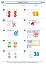 Mathematics - Second Grade - Worksheet: Number Words