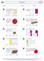 Mathematics - Second Grade - Worksheet: Fractions