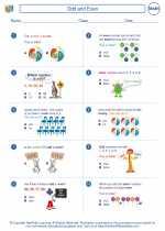 Mathematics - Second Grade - Worksheet: Odd and Even