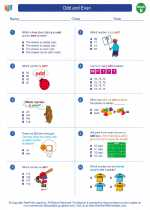 Mathematics - Second Grade - Worksheet: Odd and Even