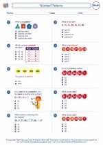 Mathematics - Second Grade - Worksheet: Number Patterns