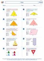 Mathematics - Sixth Grade - Worksheet: Area