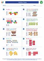 Mathematics - Second Grade - Worksheet: Addition Facts