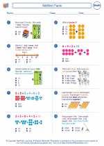 Mathematics - Second Grade - Worksheet: Addition Facts