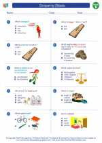 Mathematics - Second Grade - Worksheet: Comparing Objects