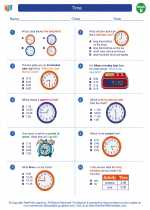 Mathematics - Second Grade - Worksheet: Time