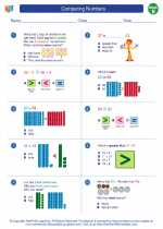 Mathematics - Second Grade - Worksheet: Comparing Numbers