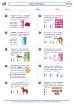 Mathematics - Second Grade - Worksheet: Story Problems