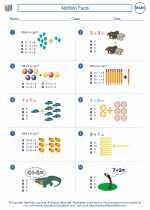 Mathematics - First Grade - Worksheet: Addition Facts
