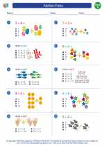 Mathematics - First Grade - Worksheet: Addition Facts