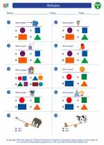 Mathematics - First Grade - Worksheet: Attributes