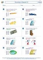 Mathematics - Third Grade - Worksheet: Rounding to Nearest 10