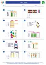 Mathematics - First Grade - Worksheet: Place Value