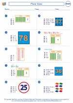 Mathematics - First Grade - Worksheet: Place Value
