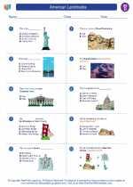 Social Studies - Fourth Grade - Worksheet: American Landmarks