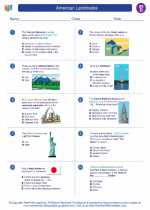 Social Studies - Fourth Grade - Worksheet: American Landmarks