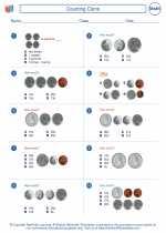 Mathematics - First Grade - Worksheet: Counting Coins