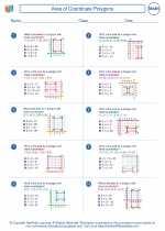 Mathematics - Sixth Grade - Worksheet: Area of Coordinate Polygons
