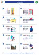 Mathematics - First Grade - Worksheet: Temperature