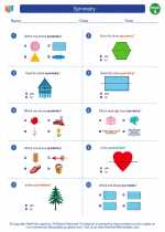 Mathematics - First Grade - Worksheet: Symmetry