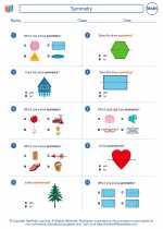 Mathematics - First Grade - Worksheet: Symmetry
