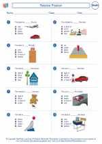 Mathematics - First Grade - Worksheet: Relative Position