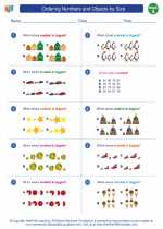 Mathematics - First Grade - Worksheet: Ordering Numbers and Objects by Size