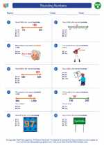 Mathematics - Fourth Grade - Worksheet: Rounding Numbers