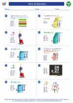 Mathematics - Fourth Grade - Worksheet: More Multiplication