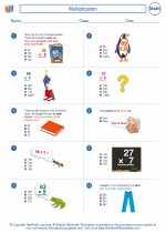 Mathematics - Fourth Grade - Worksheet: Multiplication