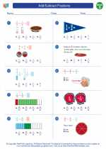 Mathematics - Fourth Grade - Worksheet: Add/Subtract Fractions