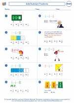 Mathematics - Fourth Grade - Worksheet: Add/Subtract Fractions