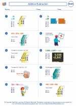 Mathematics - Fourth Grade - Worksheet: Addition/Subtraction