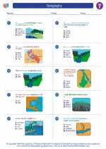 Social Studies - Fifth Grade - Worksheet: Geography