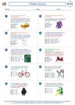 Mathematics - Fourth Grade - Worksheet: Problem Solving