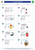 Mathematics - Fourth Grade - Worksheet: Division/Multiplication